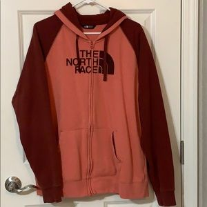 North Face Front Zip Jacket Hoodie XXL